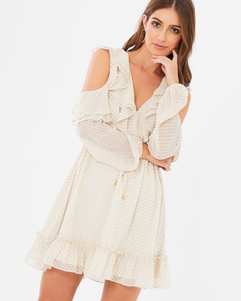 CHANCERY Erica Frill Dress Dresses Ivory Base Polka Dot Erica Frill Dress
