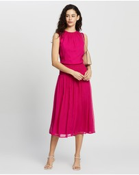 David Lawrence - Macie Silk Gathered Dress