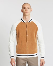 REISS - Spender LS Towelling Bomber Jacket
