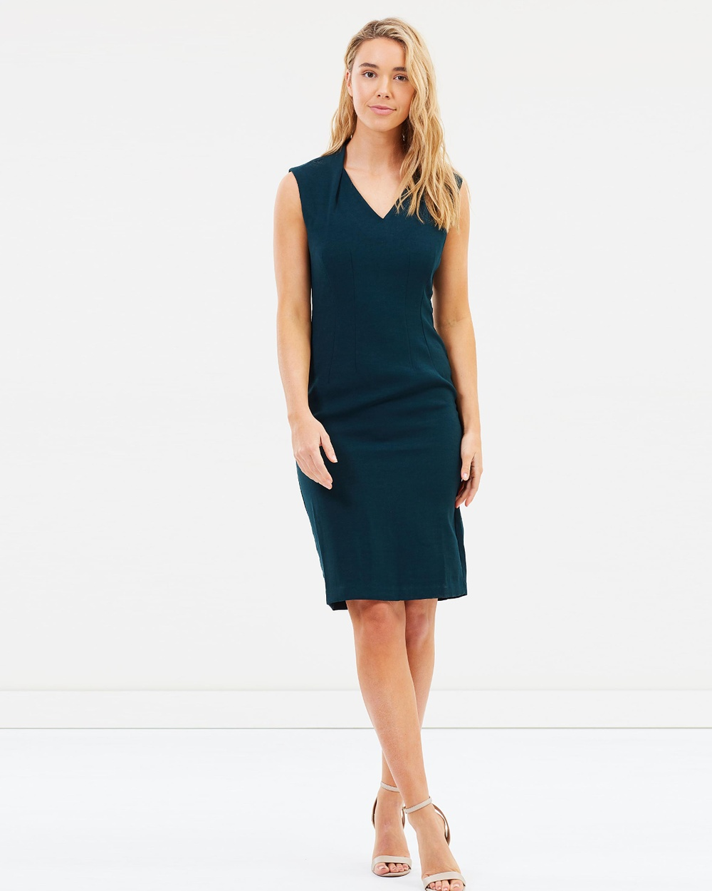 Forcast Vienna Sleeveless Dress Dresses Emerald Vienna Sleeveless Dress