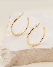 Reliquia Jewellery - Always Ready Gold Hoop Earrings
