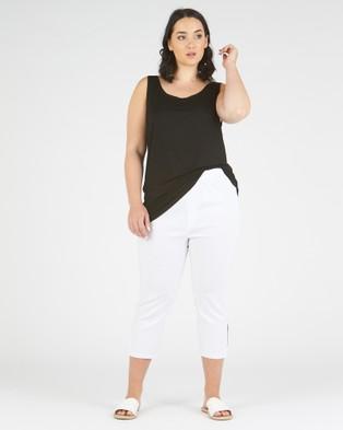 Advocado Plus Side Split Pants - Pants (White)