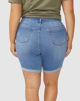 Indigo Tonic Victoria Knee Shorts - Denim (Blue)