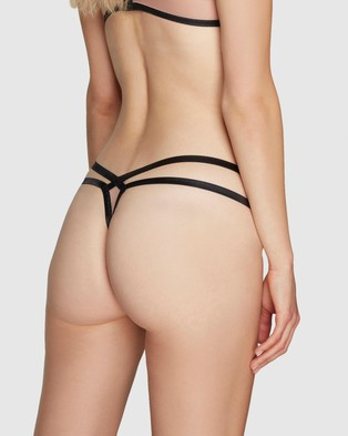 Agent Provocateur Joan Thong - Thongs & G-Strings (Nude & Black)