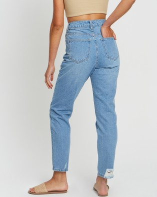 The Fated Radical Mum Jeans - High-Waisted (Mid Blue Wash)