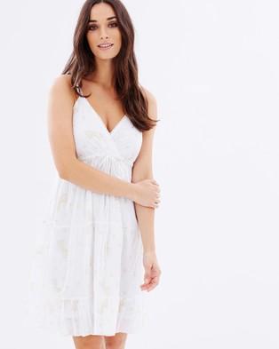 Kaja Clothing – Areta Dress White & Pink