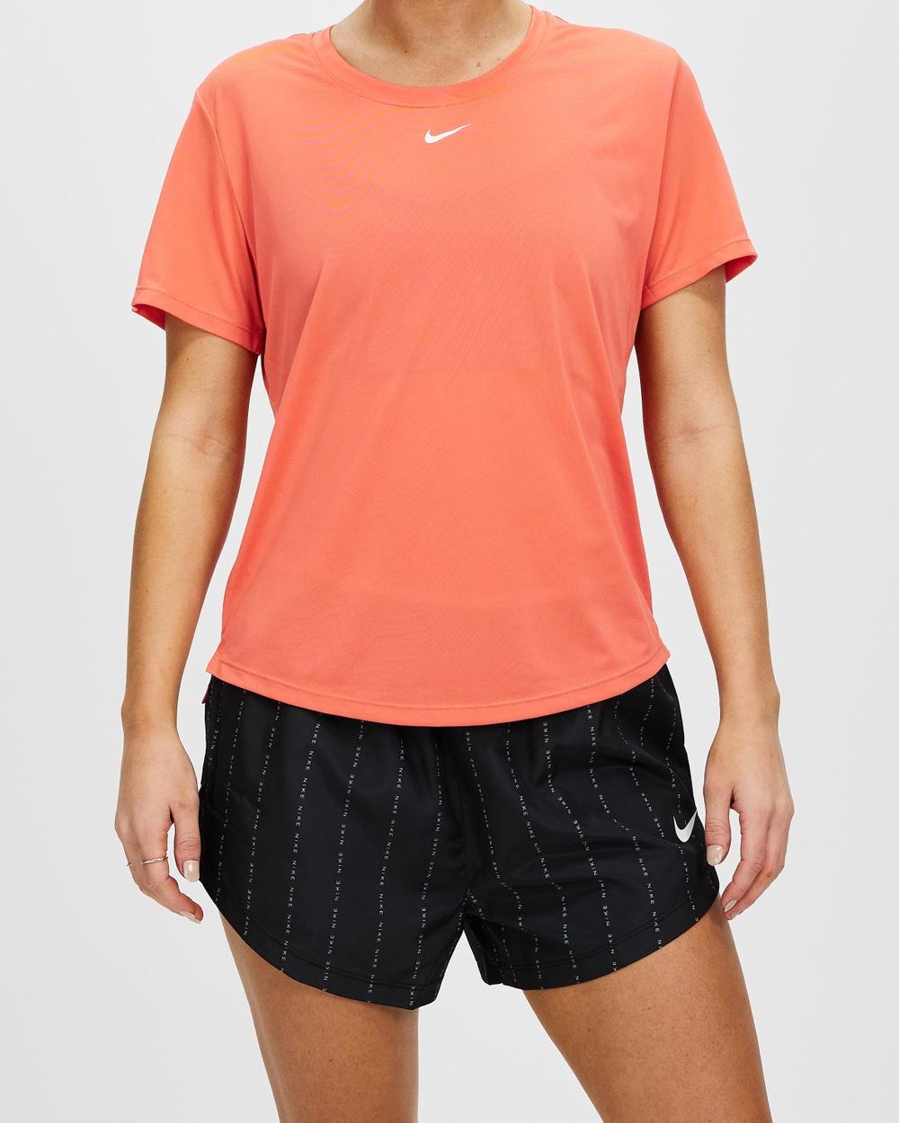 Nike One Dri FIT SS Top Short Sleeve T-Shirts Magic Ember & White Dri-FIT Australia