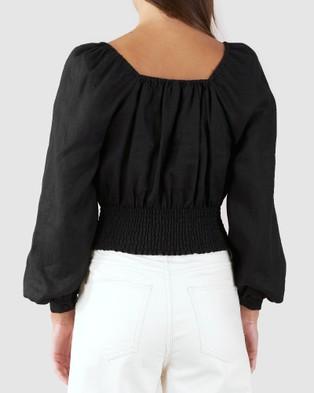Amelius Ada Linen Top - Tops (Black)