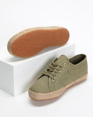 Superga 2750 Cotropeu - Sneakers (Green Tortora & Gold)