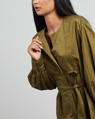 Shona Joy Amaia Balloon Sleeve Shirt Dress - Dresses (Oliver)