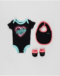Nike - Bodysuit, Bib and Booties Set - Babies