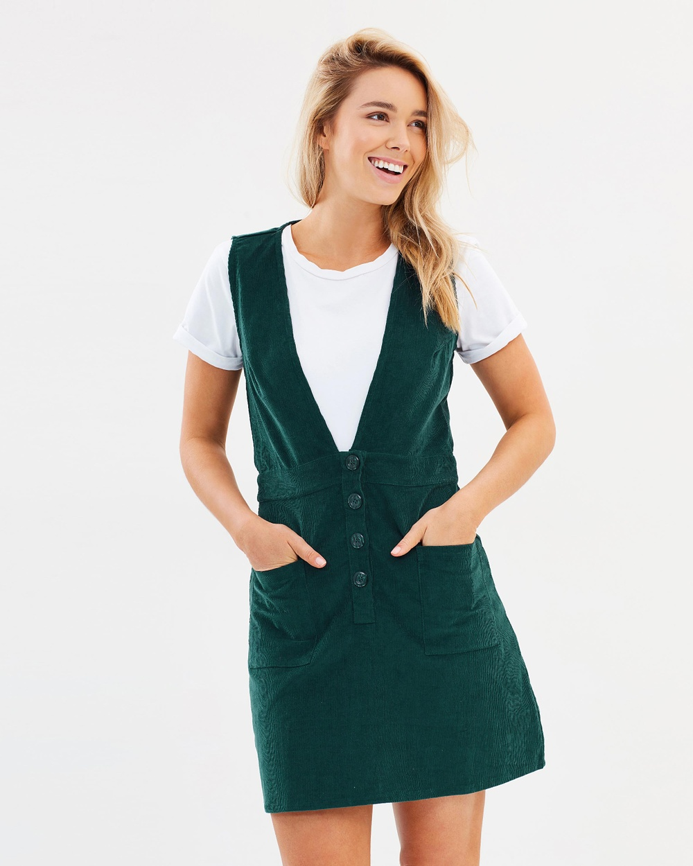 Rue Stiic Bonnie Overall Dress Dresses Teal Bonnie Overall Dress