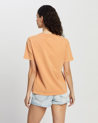 Rip Curl Search Logo Tee - T-Shirts & Singlets (Clay)