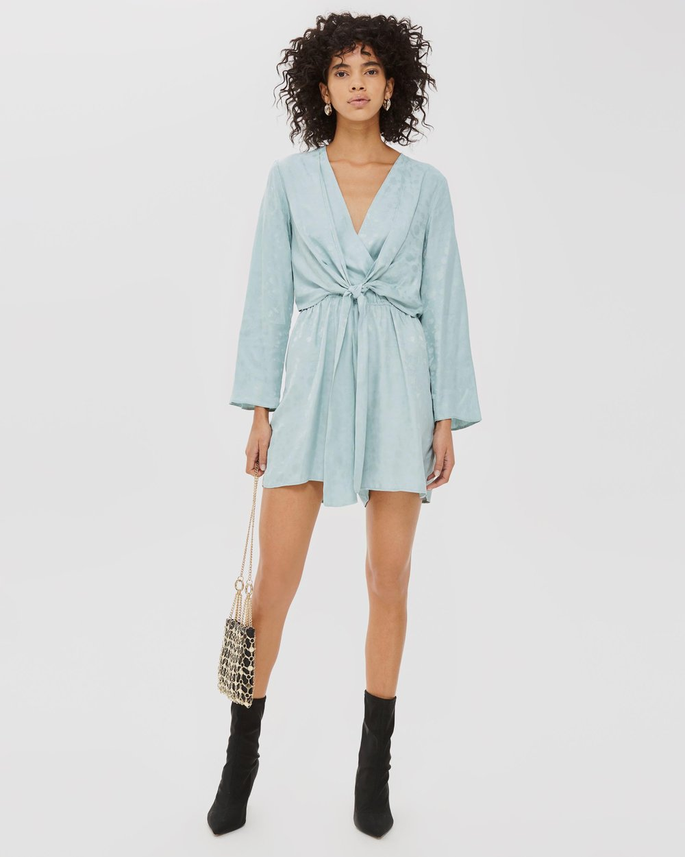 911a6073e8aa Jacquard Knot Playsuit by TOPSHOP Online
