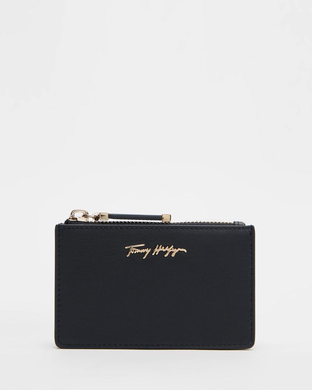 Tommy Hilfiger Iconic Card Holder Wallets Desert Sky