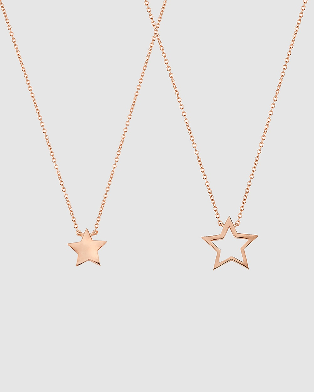 Secret Sisterhood Star Friendship Necklaces Jewellery Rose Gold