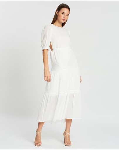 Sir The Label. Indre Open Back Midi Dress White