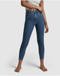Cotton On - High-Rise Cropped Skinny Jeans