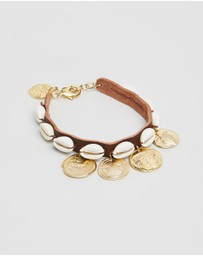 Ancient Greek Sandals - Shells & Coins Gold Anklet
