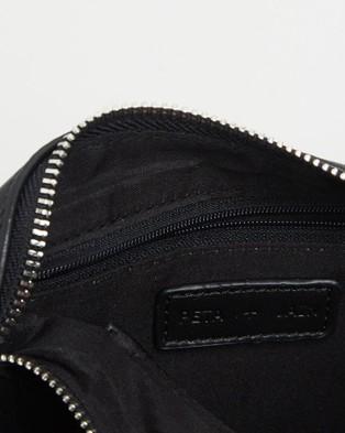 PETA AND JAIN Salem Shoulder Bag - Clutches (Black Smooth)