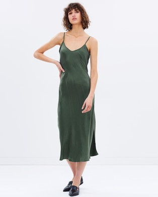 Hansen & Gretel – Sarah Silk Dress Pine Green
