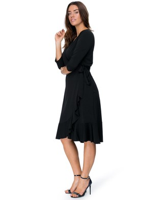 Embody Denim – Marilyn Wrap Dress Black