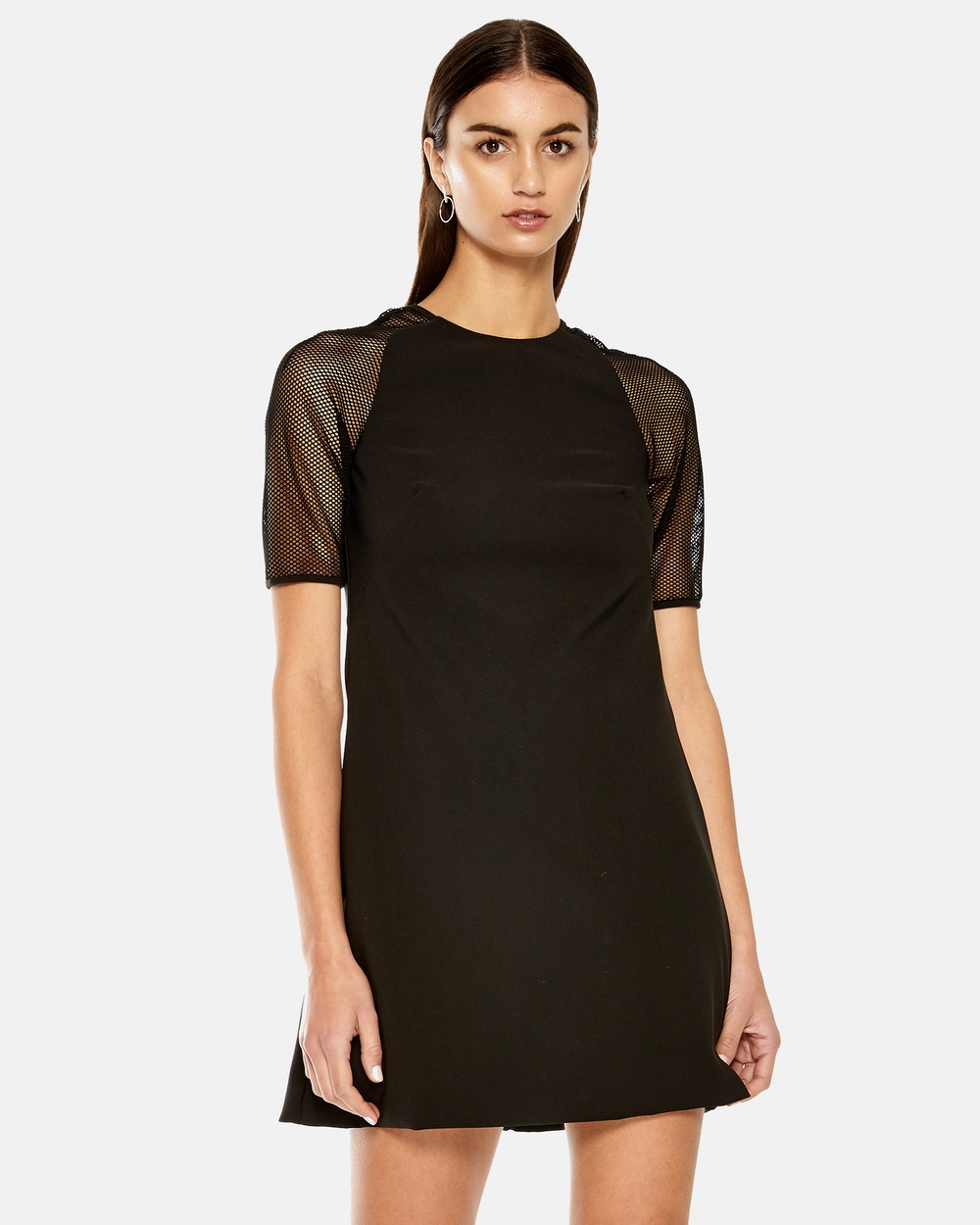 Maniera Black Raglan A-Line Dress