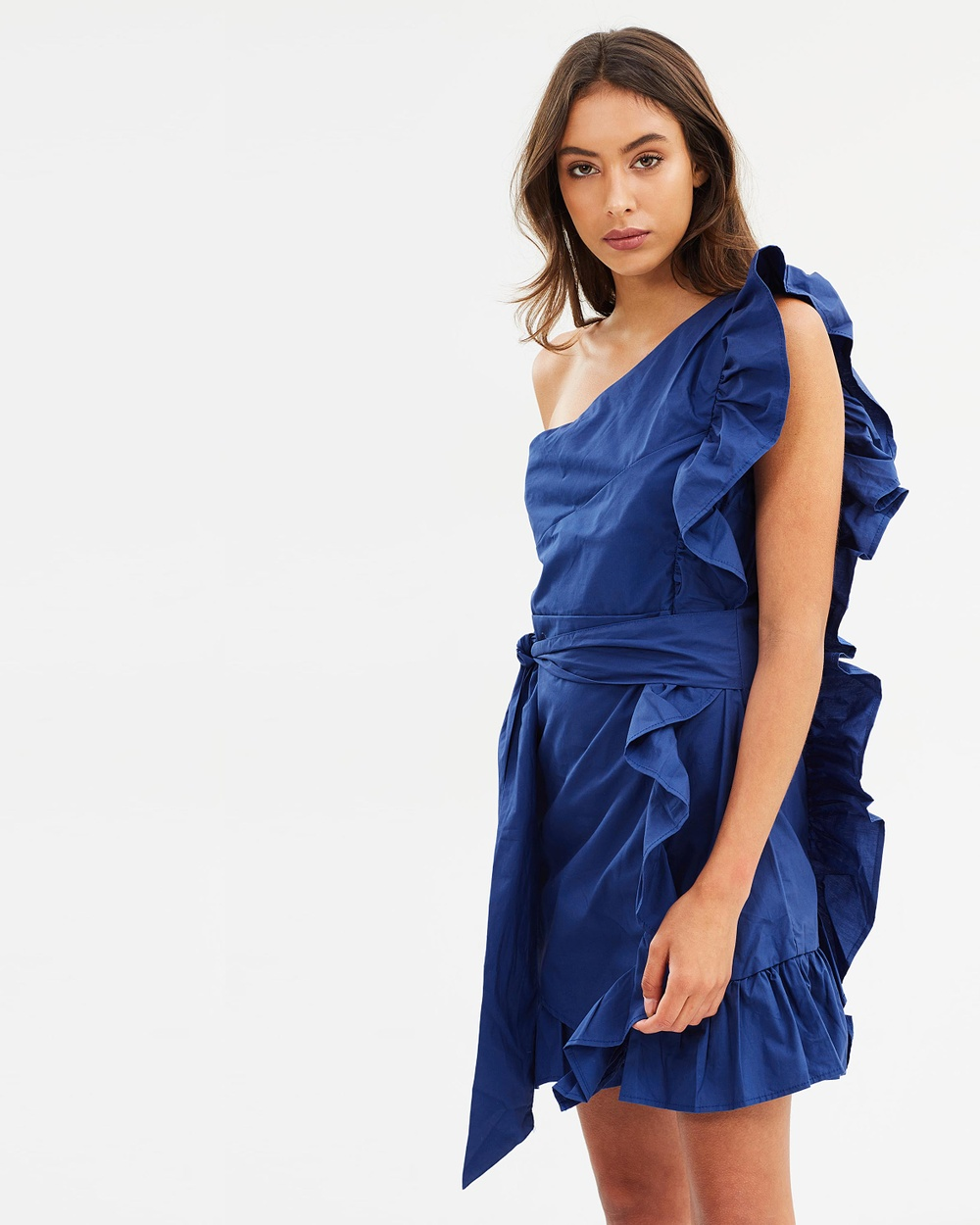 Lioness Sliding Doors Ruffle Dress Dresses Blue Sliding Doors Ruffle Dress