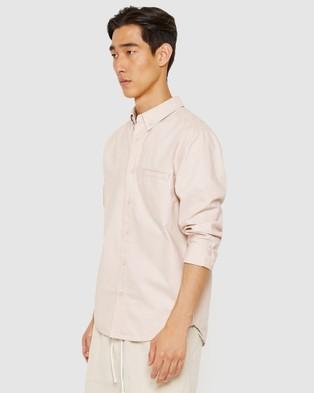 Jag Washed Oxford Shirt - Shirts & Polos (Pumice )