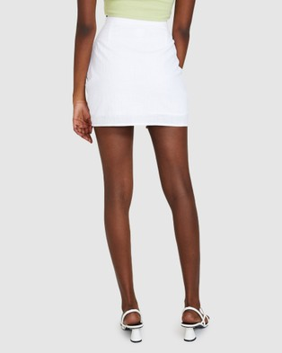 Dont Ask Amanda Sally Scruched Skirt - Skirts (WHITE)
