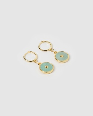 Arms Of Eve Cosmos Gold and Amazonite Earrings Jewellery Gold