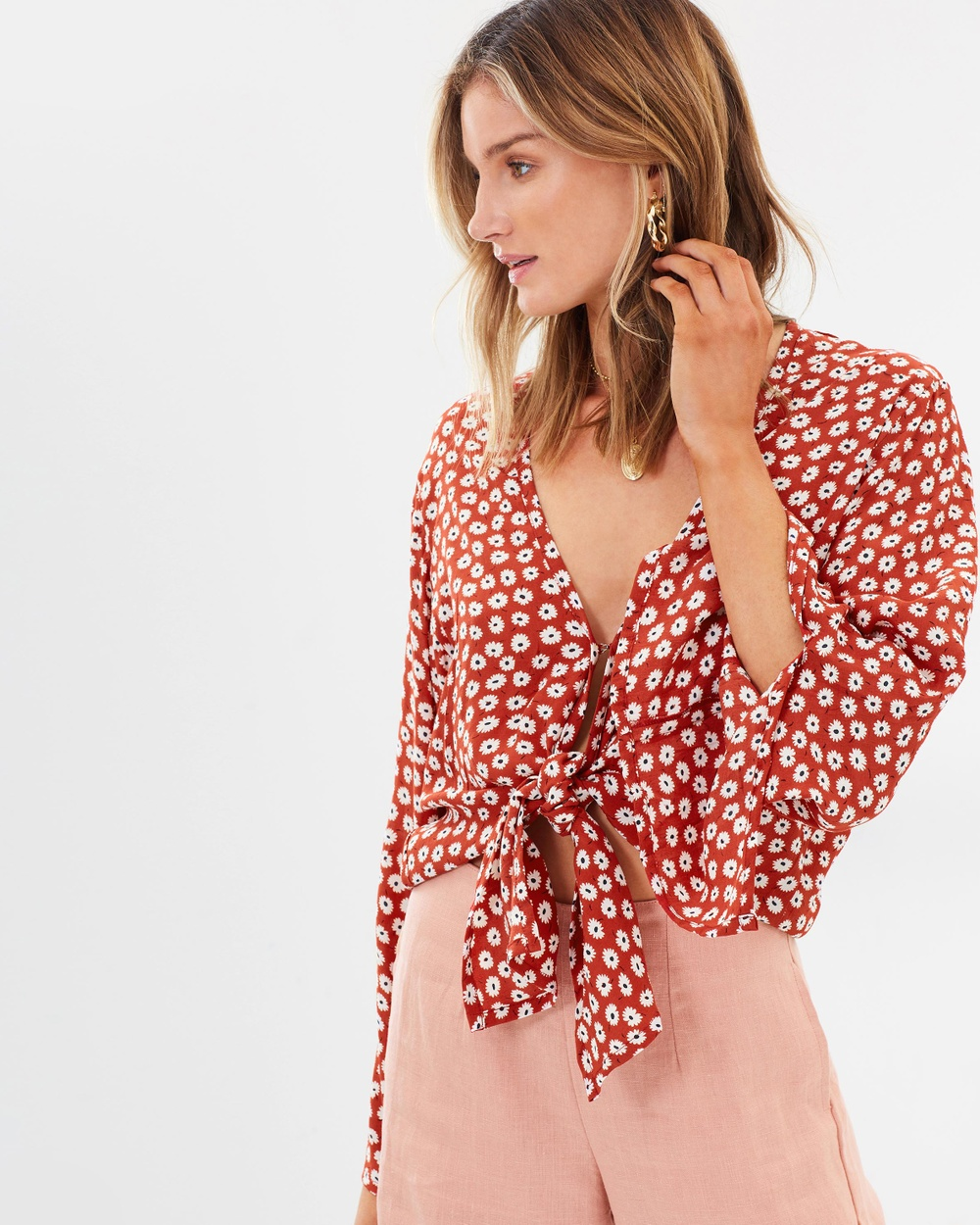Faithfull Teguise Top Cropped tops Danica Floral Print Teguise Top