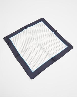 BOSS Rolled Pocket Square - Pocket Squares (White)
