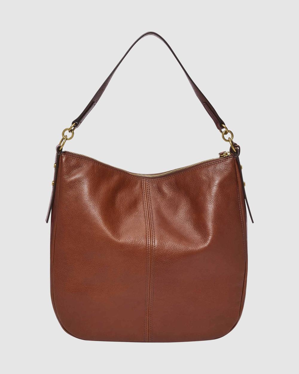 Fossil Jolie Brown Hobo Bag Bags Brown