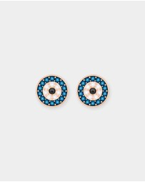 Swarovski - Duo Evil Eye Pierced Earrings