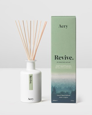 Aery Living Mindful 200ml Reed Diffuser Diffusers Green