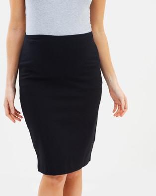 Angel Maternity Maternity Straight Cut Ponti Work Skirt - Pencil skirts (Black)