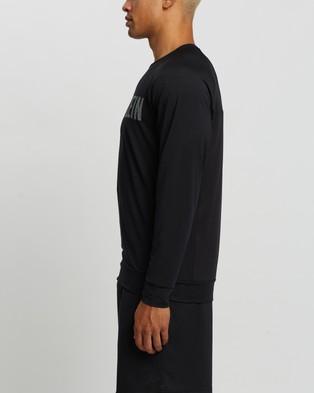 Calvin Klein Performance - Material Mix Long Sleeve Tee T-Shirts (Ck Black)