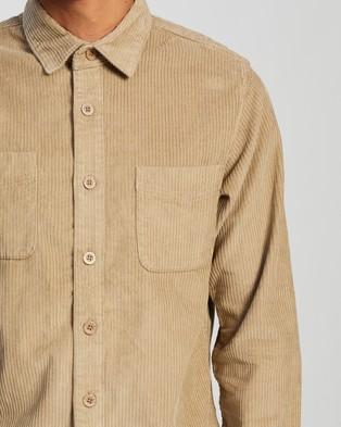 Afends Killer Wale Corduroy Long Sleeve Shirt - Casual shirts (Dirty Beige)