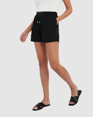 Forcast Rita Drawstring Shorts - Shorts (Black)
