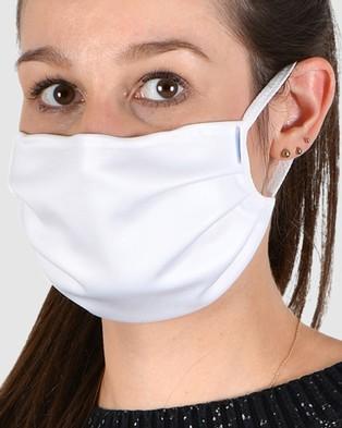 Naturana 5 Pack   Reusable Cotton Face Masks - Wellness (White)