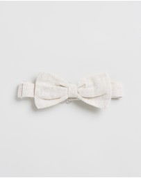 Bebe by Minihaha - Louis Linen Bow Tie - Babies