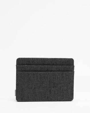 Herschel Charlie Rubber RFID - Wallets (Black Crosshatch & Black)