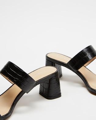 Jo Mercer Bianca Mid Heel Sandals - Mid-low heels (Black Croc)