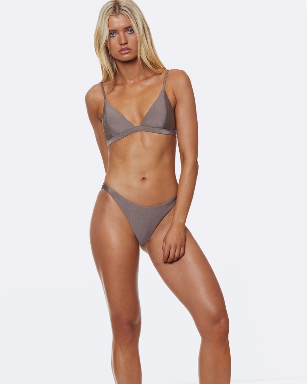 L'urv She Shimmers Bikini Bottoms Bikini Bottoms Grey She Shimmers Bikini Bottoms