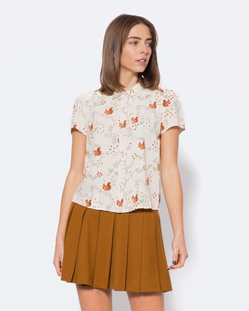 Princess Highway Squirrel Away Blouse Tops White Squirrel Away Blouse