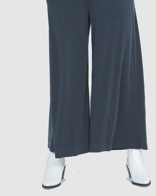 Faye Black Label Luxe Pull On Culottes - Pants (Seaweed)