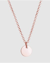 Elli Jewelry - Kids - Necklace Kids Platelet Circle Coin Pea Chain in 925 Sterling Silver Rose-gold