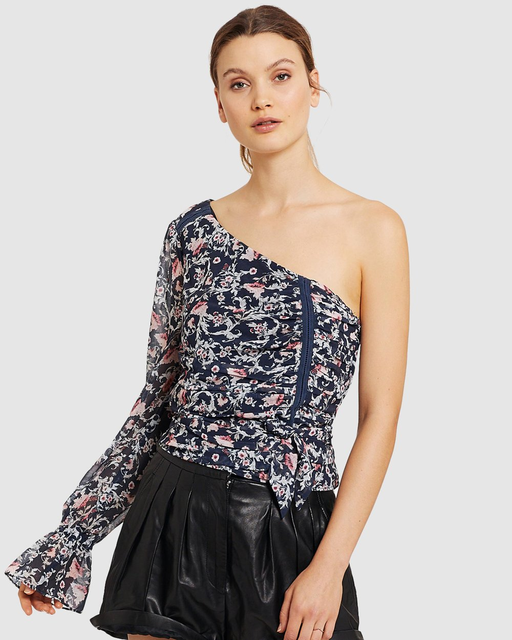 Stevie May Sadelle Asymmetrical Top Persian Floral