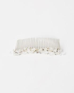 Ivory Knot Samantha Hair Comb - Fascinators (Silver)